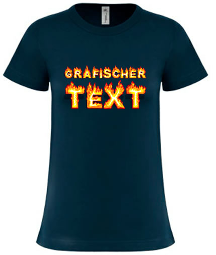 Grafischer-Text-Shirt